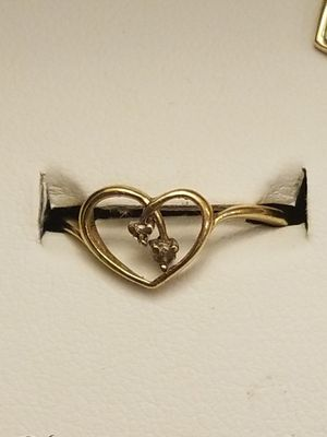 BEAUTIFUL GOLD WITH DAIMOND HEART RING WITH MATCHING PENDANT for Sale in Fairfax, VA