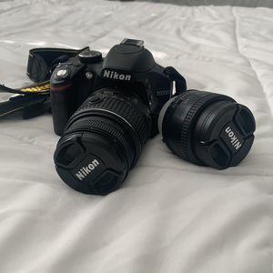 Nikon D3200 DSLR w/ AF-S 18-55mm & 50mm Lens for Sale in West Covina, CA