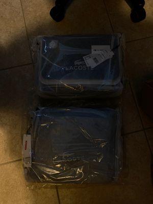 Supreme x Lacoste Messenger bag both black for Sale in Riverview, FL