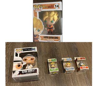 New Funko POP Anime Dragonball Z Super Saiyan Goku Vinyl Figure, Elton John,Evil Queen, Cinderella, Jack Jack for Sale in Puyallup, WA