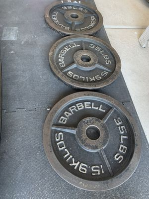 CAP 35lb metal plates (3) for Sale in LOS RNCHS ABQ, NM