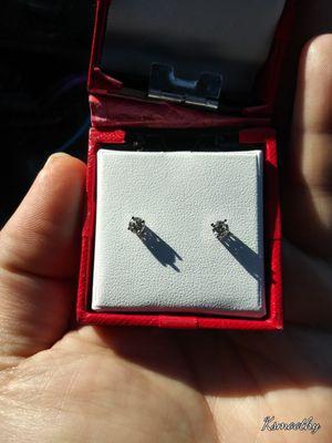 14 kt White Gold Diamond Earings for Sale in Philadelphia, PA