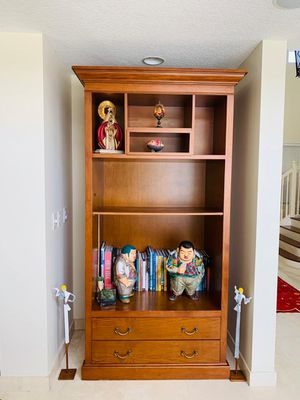 Wooden cupboard with bookshelves for Sale in Miami, FL
