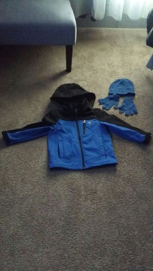 Like new boys jacket with hoodie and gloves for Sale in Westminster, CO