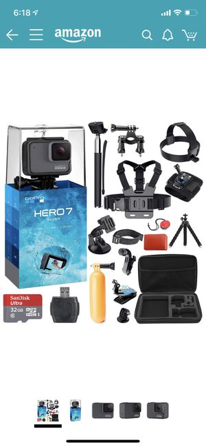 GoPro 7sliver brand new used once with all you see. Everything still in package but go pro for Sale in Pontiac, MI