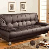 Black leather adjustable futon sofa bed ( new ) for Sale in Hayward, CA