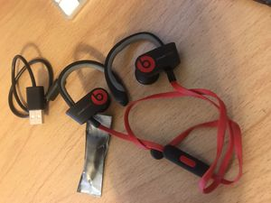 Beats by Dre used red with charger cable and new ear pugs for Sale in Orlando, FL