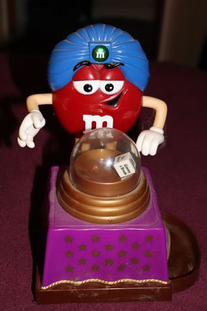 M&M'S toy collectible figurine red fortune-teller action candy dispenser for Sale in Vevay, IN