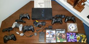 PS2, 6 controllers, multitap adapter, 3 games, manual. for Sale in Villa Park, IL
