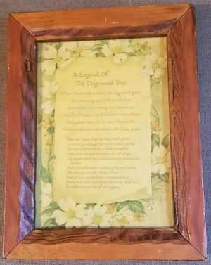 A Legend of the Dogwood Tree vintage wood plaque for Sale in Three Rivers, MI