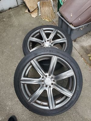 Two 18in rims with 225/45 tires for Sale in San Mateo, CA