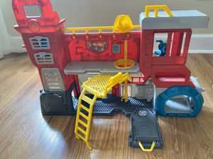 Playskool Heroes Transformers Rescue Bots Griffin Rock Firehouse Headquarters by Hasbro for Sale in Harrisburg, NC