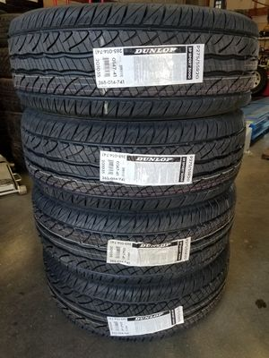 275 55 20 DUNLOP TIRES MADE IN USA for Sale in Fontana, CA