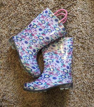 Girl's Light Up Rain Boots Size 11 for Sale in Ellenwood, GA