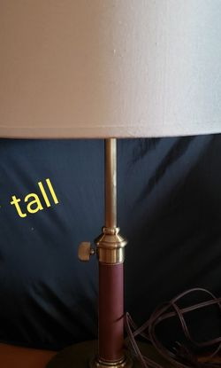 Nice Brass And Leather Wrapped Lamp And Shade for Sale in Carrollton,  TX