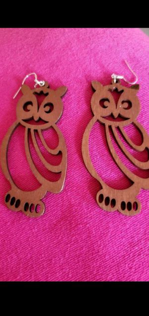 Ultralight weight handmade one of a kind wooden owl earrings NEW for Sale in Round Rock, TX