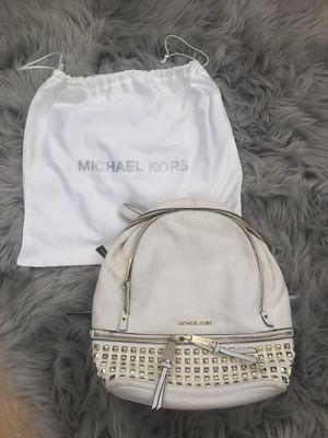 Michael Kors White Pebble Leather Backpack Purse for Sale in Saint CLR SHORES, MI