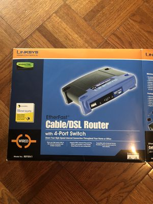 Linksys cable/DSL router for Sale in Georgetown, TX