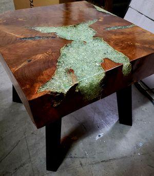 Bali Teak, Shattered Resin End Table for Sale in Orlando, FL