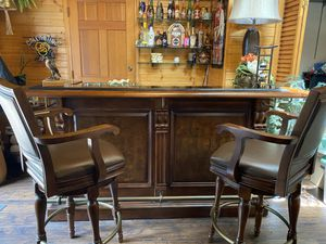 CUSTOM HIGH-END Marble Bar With Rotating Stools (Worth $10k+) for Sale in Bloomington, IL