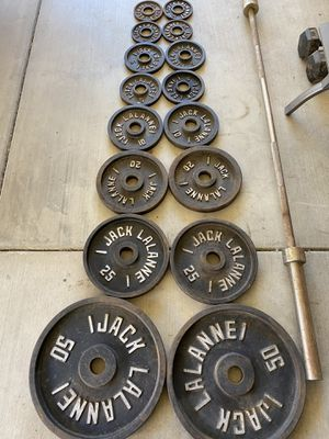 Olympic Weight Set & Bar for Sale in Manteca, CA