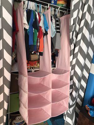 Hanging Closet Organizer - Pink for Sale in Las Vegas, NV