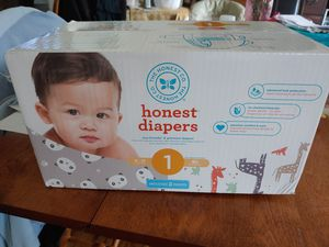 Honest baby diapers size 1 for Sale in Massapequa Park, NY