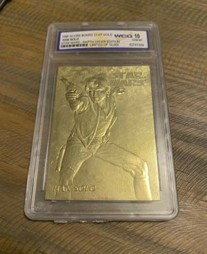 1996 Star Wars Darth Vader Edition Han Solo Limited Edition Card 23kt Gold WCG 10 graded for Sale in Ocoee, FL