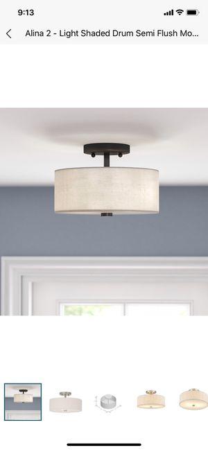 2 light semi flush mount light fixture for Sale in Beaverton, OR