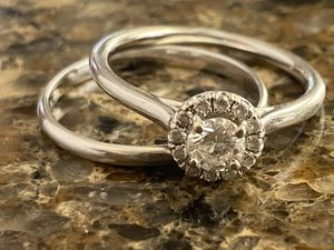 Engagement Set with certified diamond and lifetime warranty for Sale in South Windsor, CT