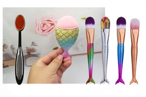 6 pcs makeup brush set. mermaid tail oval brush for Sale in Los Angeles, CA
