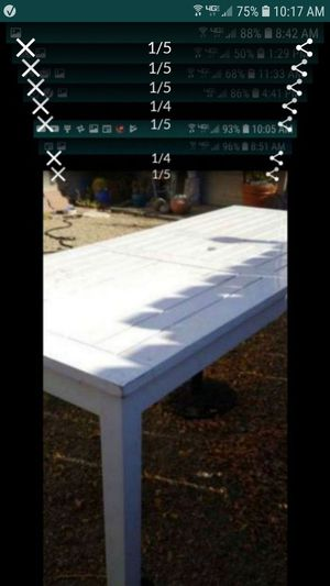 Huge restoration hardware patio table with extension 72x38 up to 92 can also use inside as kitchen table for Sale in Tracy, CA