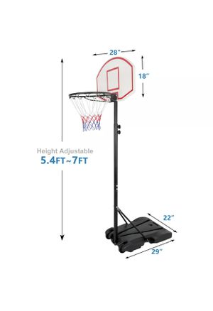 Pro 7ft Basketball Hoop Adjustable Height Portable Backboard System Junior Kid Sports Brand New for Sale in Palmdale, CA