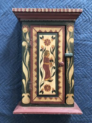 """Antique hand crafted hand painted 22"""" by 16"""" medicine cabinet for Sale in Vacaville, CA"""