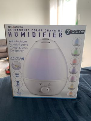 Ultrasonic color changing humidifier for Sale in Austin, TX