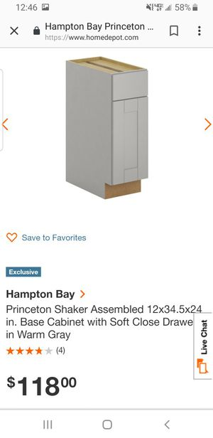 2 Grey kitchen cabinets for Sale in Cleveland, OH