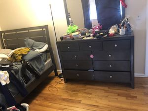 Dresser and bed frame for Sale in Manchester, CT