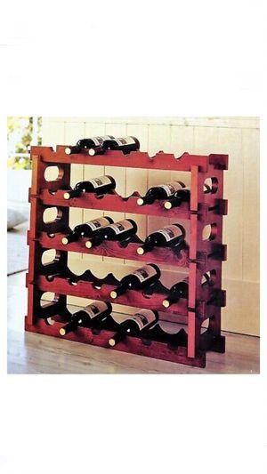 Wine rack 5 tier mahogany for Sale in Phoenix, AZ