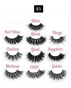 Eyelashes, lip gloss, eyelash glue, lash applicators for Sale in Riverside, CA