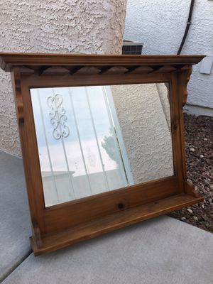 Wall Bar Mirror with Shelves and Glass Storage for Sale in Las Vegas, NV