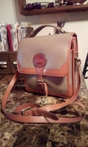Vintage DOONEY & BOURKE Tan & Taupe Leather Medium Messenger Crossbody Convertible Shoulder Bag Purse Handbag for Sale in Phoenix, AZ