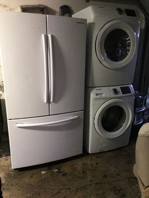 Samsung Refrigerator and washer and dryer for Sale in Indianapolis, IN