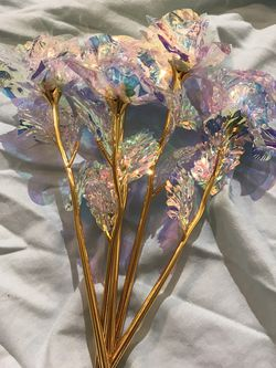 """Bouquet of cellophane iridescent flowers, 5 9"""" Flowers for Sale in Fresno,  CA"""