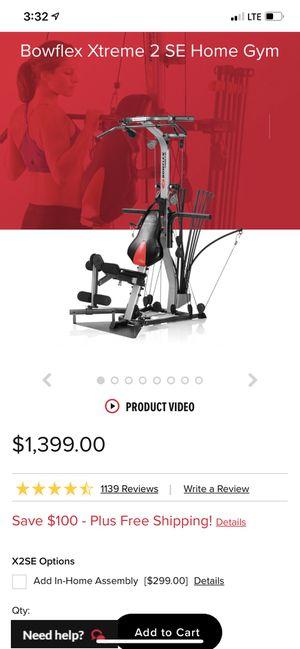 Bow flex extreme 2 w/ adjustable dumbbells for Sale in Richardson, TX