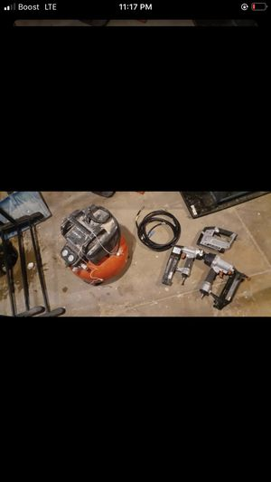 Air comprised with nail guns and staples gun for Sale in Philadelphia, PA