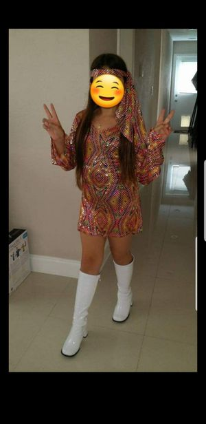 Disco Costume and boots for girls for Sale in Pembroke Pines, FL