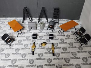 Wwe Accessories ~ Belts, Chairs, Tables, Ladders.. for Sale in Santa Ana, CA