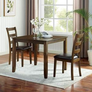 MID CENTURY MODERN 3 PC PIECE SET DINING KITCHEN DINETTE TABLE / MESA 3 PIESAS COMEDOR SILLAS for Sale in Riverside, CA
