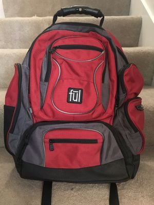 ful brand red/black/gray laptop backpack, never used for Sale in Mukilteo, WA