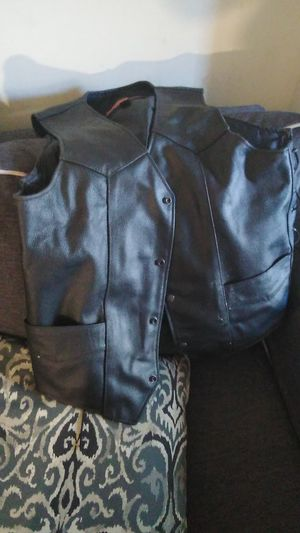 Leather motorcycle vest for Sale in Nashville, TN